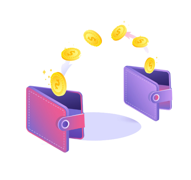 Xano image of wallet and money