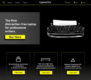 web design dark theme